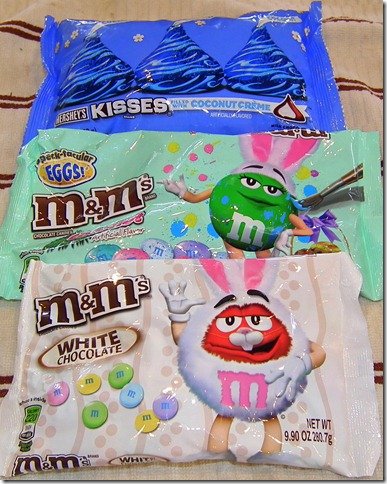 Hersheys Coconut Cream Kisses Coconut M&Ms and White  Chocolate M&Ms