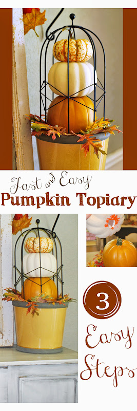 Pumpkin Topiary 3 easy steps