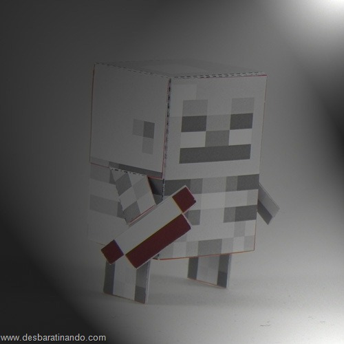 Paper Toys minecraft Skeleton Archer
