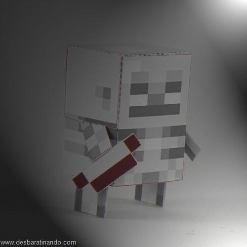 Paper Toys minecraft Skeleton Archer