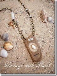 Driftwood Necklace - Vintage with Laces