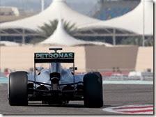 Rosberg nei test in Bahrain 2014