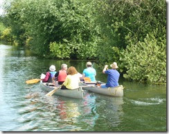 6 canoes at cheshunt
