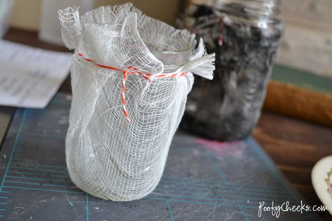 Cheesecloth Luminaries by www.poofycheeks.com