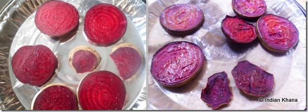 Roasting beets in oven for pesto