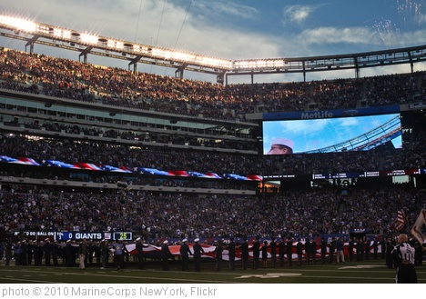 'New York Giants MIlitary Appreciation Game vs Dallas Cowboys, Nov. 14' photo (c) 2010, MarineCorps NewYork - license: http://creativecommons.org/licenses/by/2.0/