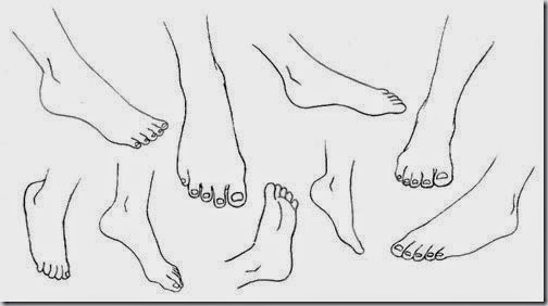 example of foot drawing