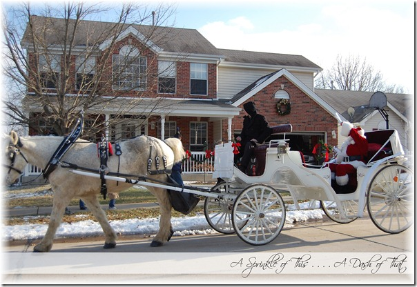 Santa and his Sleigh {A Sprinkle of This . . . . A Dash of That}