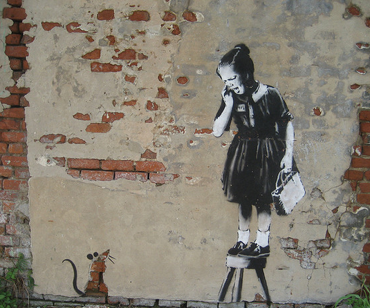 banksy rat girl new orleans
