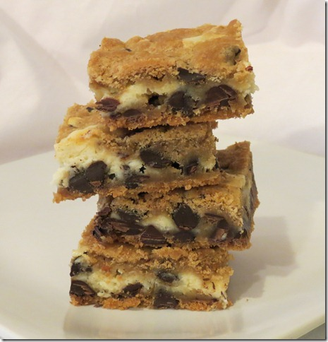 Cheesescake Layer Chocolate Chip Cookie Bars 8-28-12