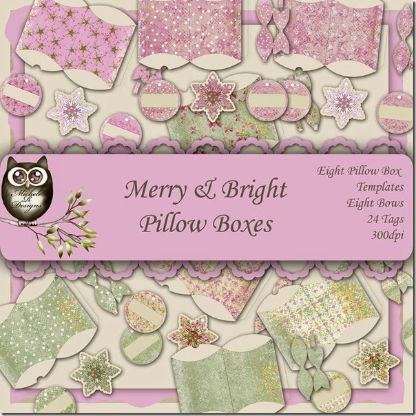 Merry & Bright Pillow Box Front Page