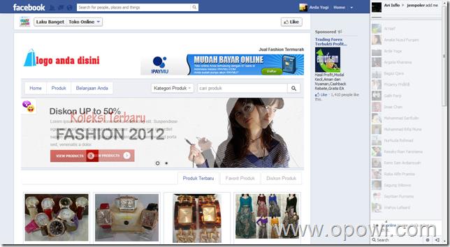 tokoonlinefacebook