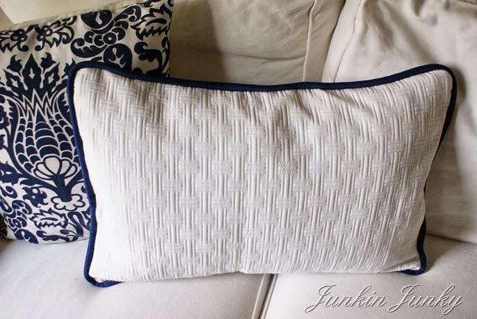 www.junkinjunky.blogspot.com - stamped fabric cushions