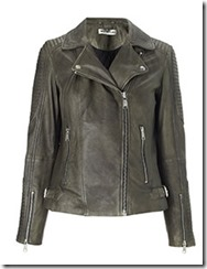 Whistles Washed Leather Biker Jacket