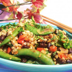 Rice and Colorful Vegetables