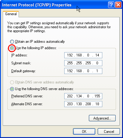 lan-xp-ip-address