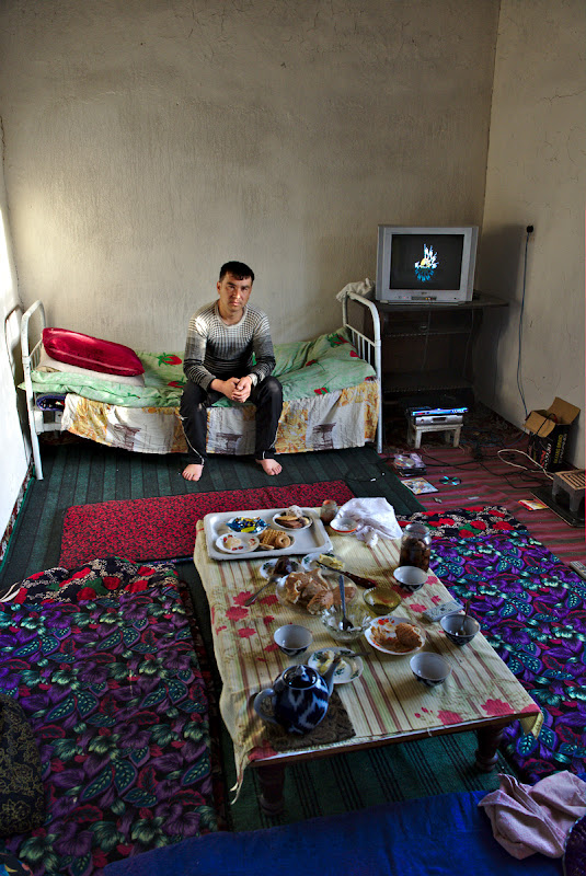 Inside one typical uzbek home.