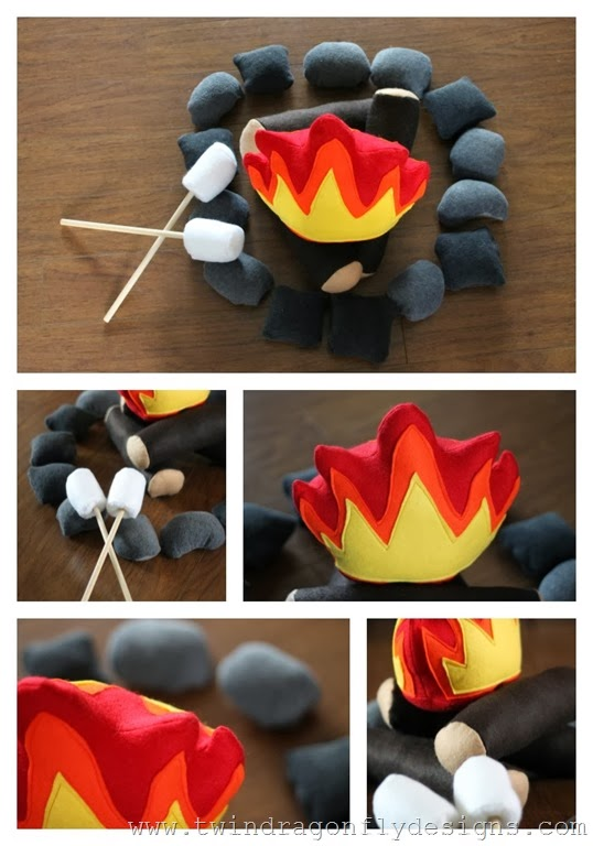 Felt Campfire Pattern Collage