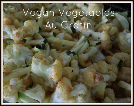 Vegan Vegetables Au Gratin