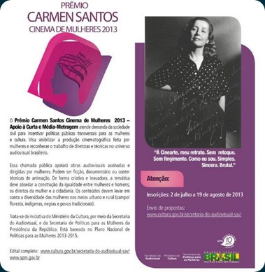 Prêmio Carmen Santos Cinema de Mulheres 2013_MinC