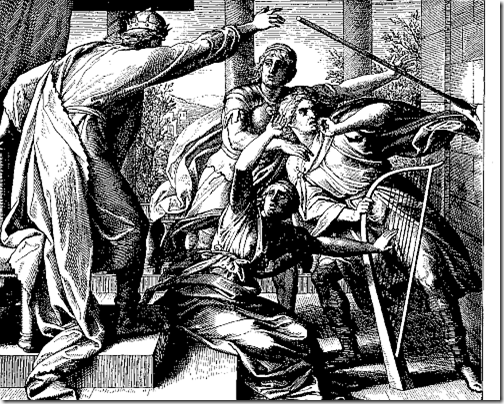 Saul Tries to Kill David, by von Carolsfeld