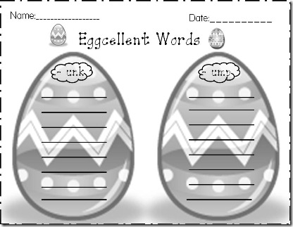 Eggcellent Words -unk, -ump