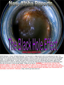Cover of Bishop's Book New Alpha Reports The Black Hole Effect