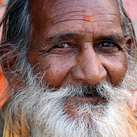 Contented is the baba by Rakesh Syal - People Portraits of Men (  )