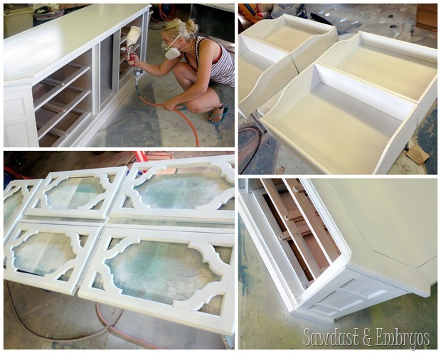 A White Paint Job for the Credenza {Sawdust and Embryos}