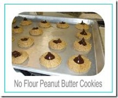 no flour peanut butter cookies button
