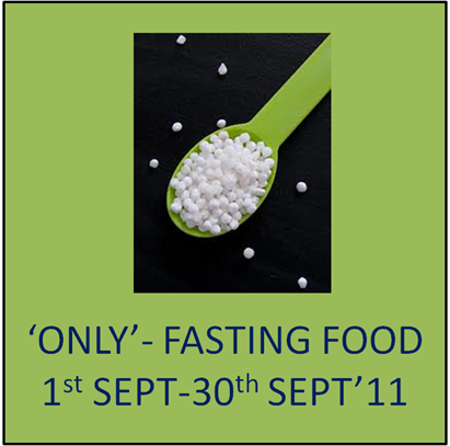 only fasting food