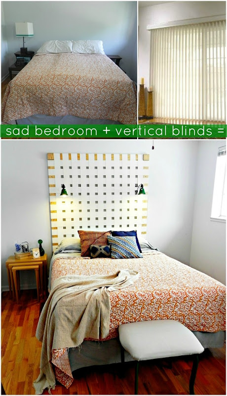 Sad bedroom plus vertical blinds equals