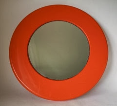 orange framed mirror front