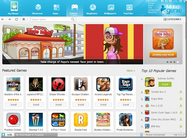 Mobogenie scaricare app, giochi, suonerie, sfondi