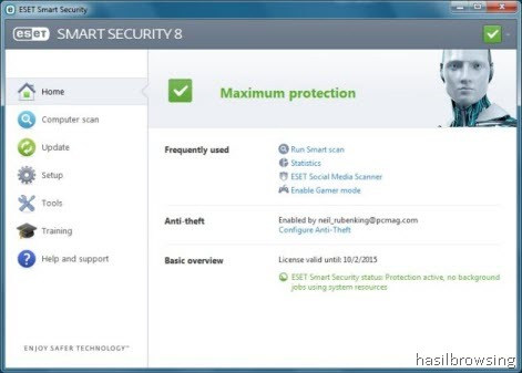 ESET SMART security 8 screenshot