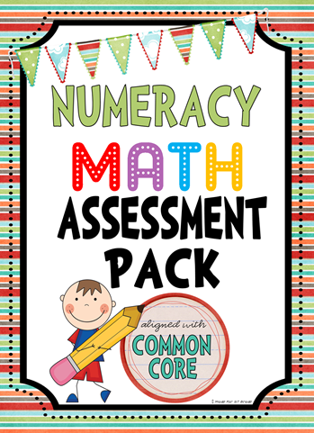 common core assessment pack - math