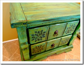 Raised Stencil Tutorial - How to make a raised stencil design on furniture.