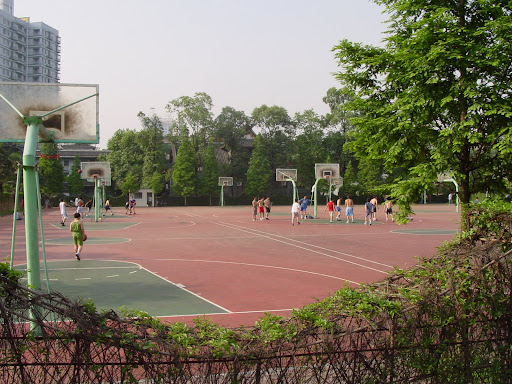 Chengdu's campus basketball courts
