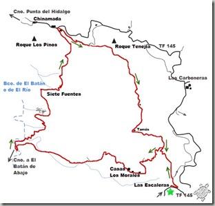 Croquis Ruta Las Escaleras- Los Morales- Chinamada
