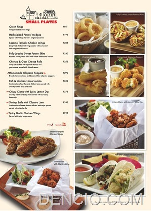Village Tavern Manila Philippines Menu02