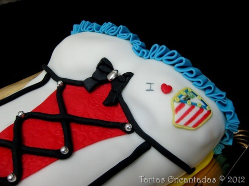 Tarta    Corset Atletico De Madrid
