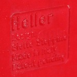 Stoppino record album/LP/storage rack for Heller, red imprint