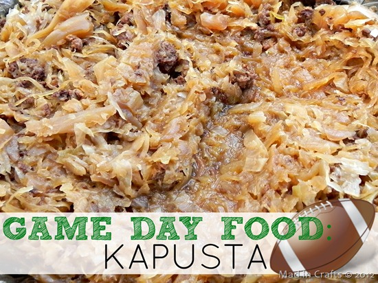 Kapusta - sauerkraut, sausage and mushrooms
