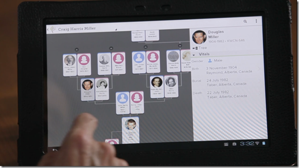 Demonstration of the upcoming FamilySearch Family Tree mobile app