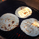 Grill the tortillas while the meat sits after cooking.