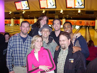 Bowling with the Broadway bowling league.