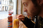 Rubin is lovin' the spaghetti.  I liked it so much, I ordered some more.