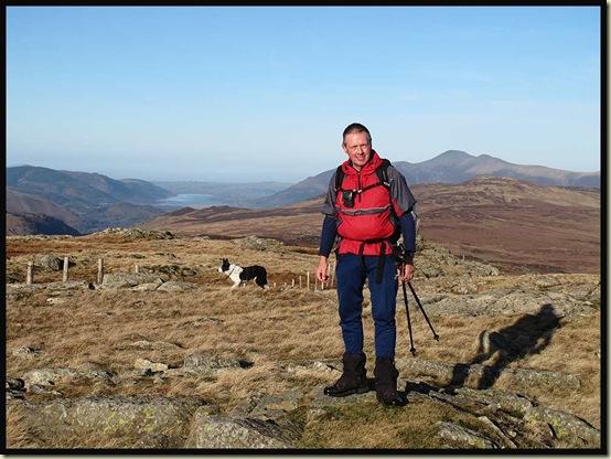 JJ on Standing Crag, 611 metres