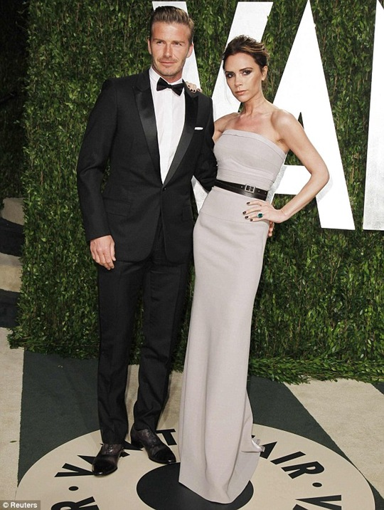 David Beckham and Victoriya Beckham at Oscar Vanity Fair Party