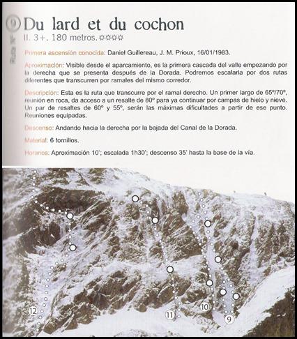 Bielsa - Boca Norte - Du Lard et du Cochon 180m WI3  (Libro)